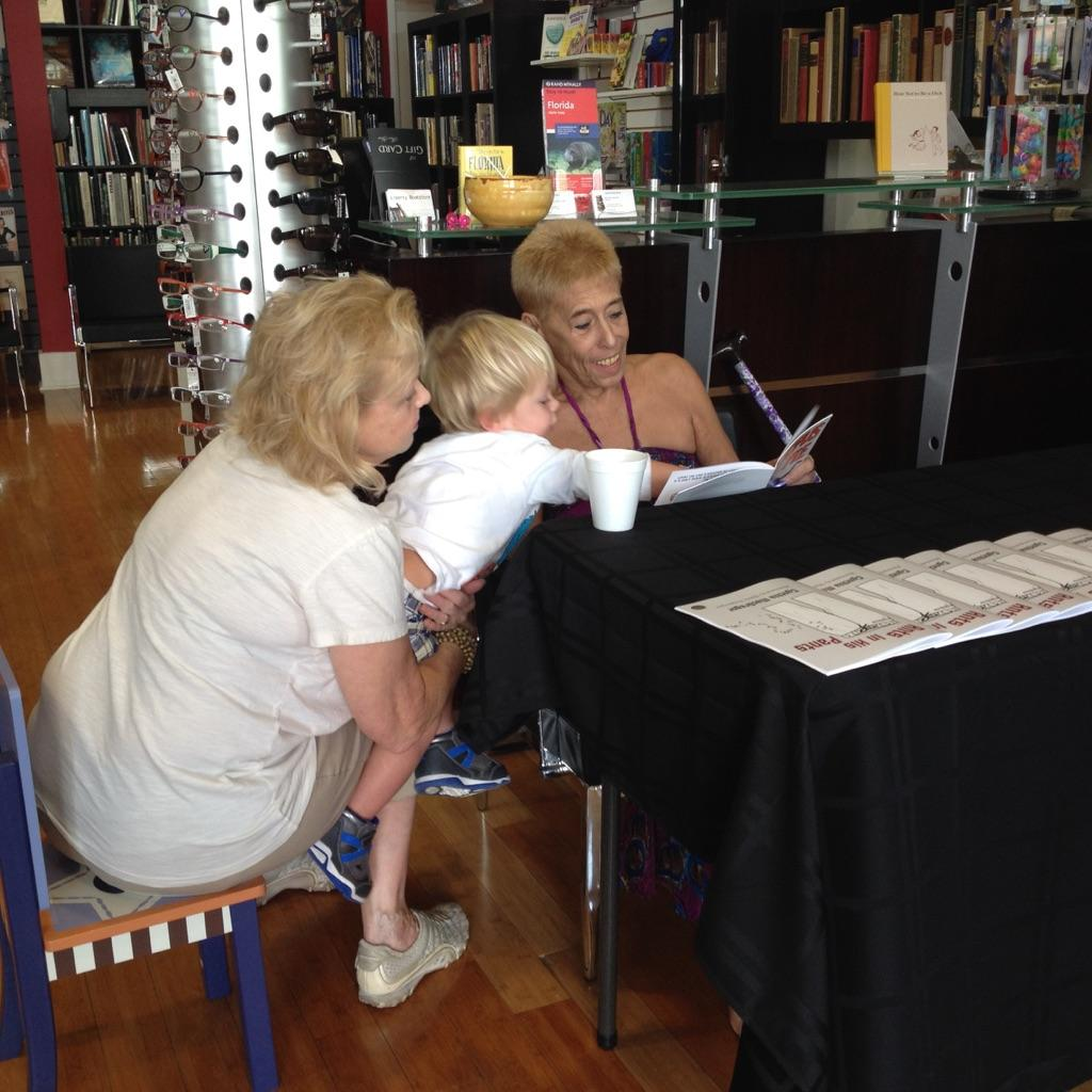 Cynthia at a book signing