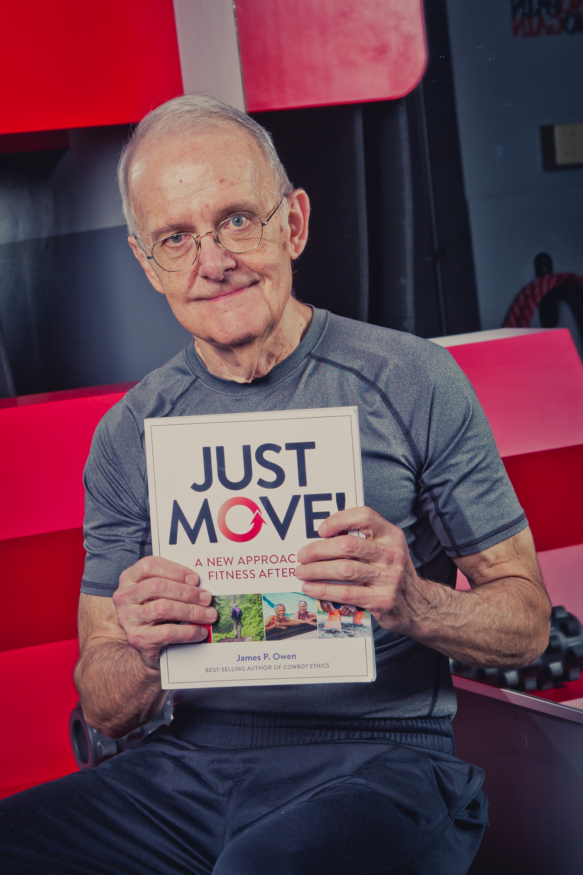 Jim Owen With Book Just Move!