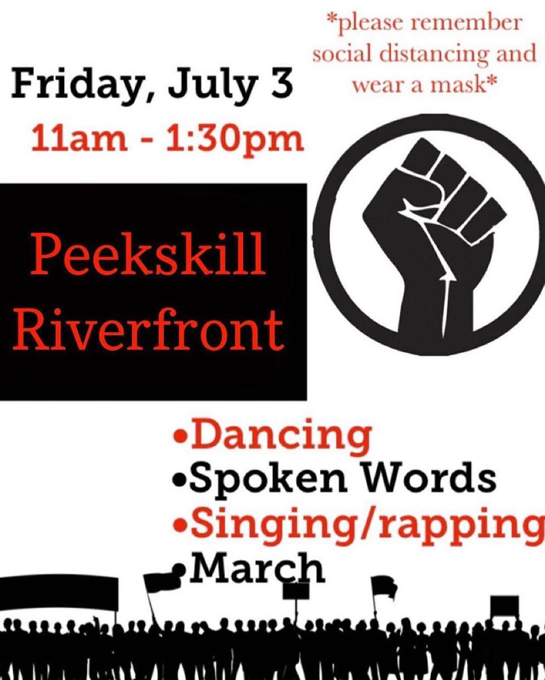 Peekskill Black Lives Mattter Rally