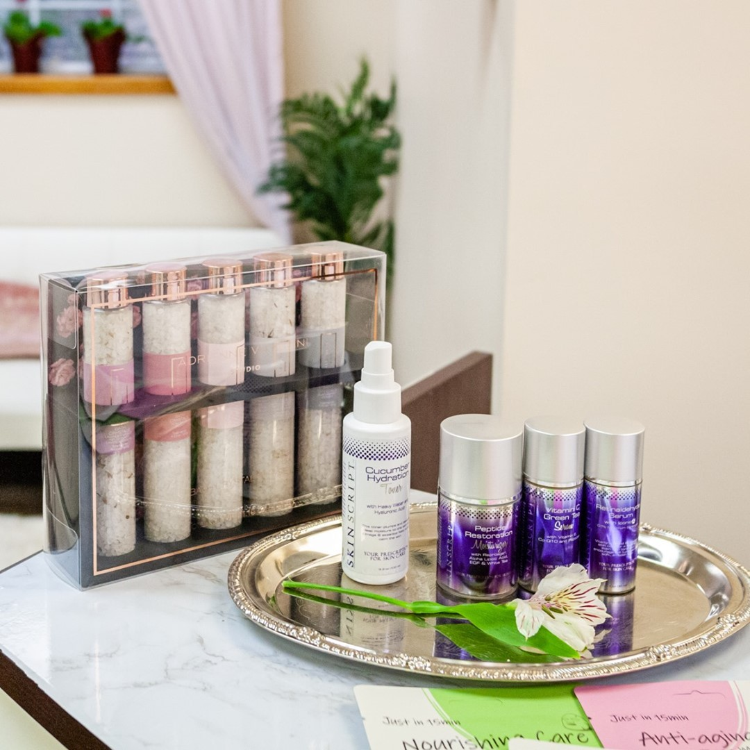 Skincare products at Abbeaute Studio