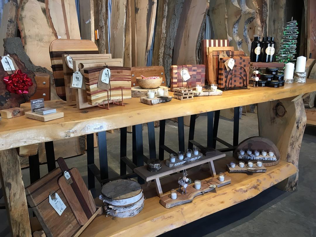 Dain's Lumber Mill showroom.