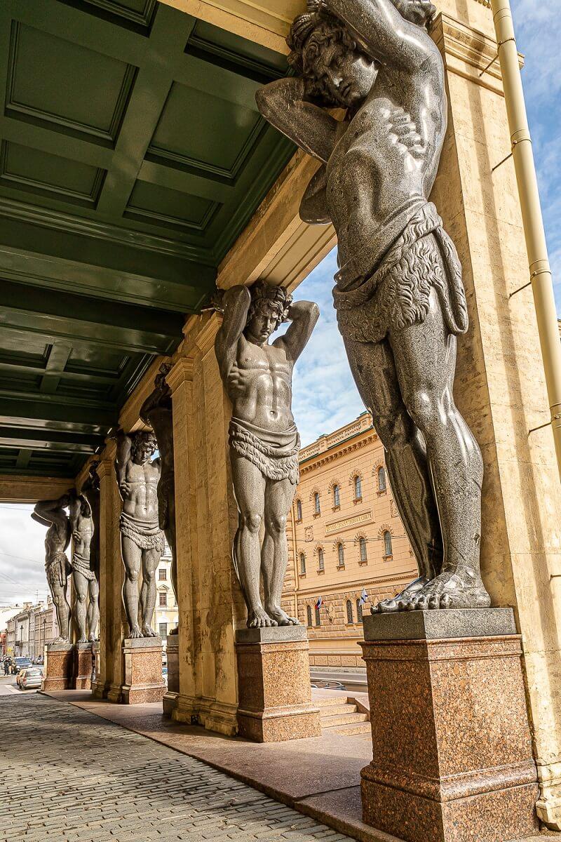 Atlant statues near the Hermitage, Saint Petersburg