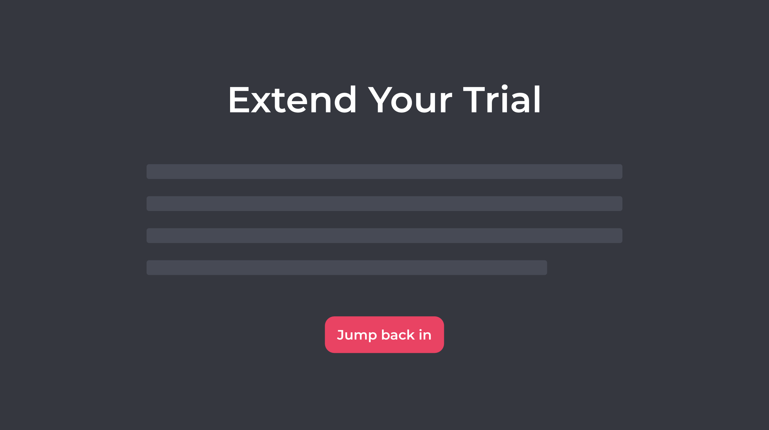 Offer Trial Extension