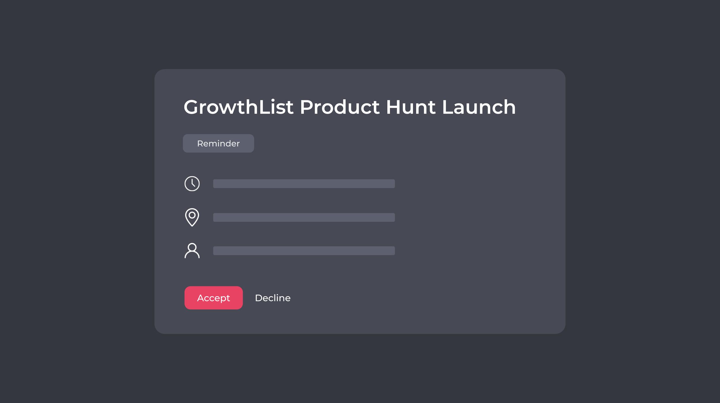 Product Hunt Calendar Reminder