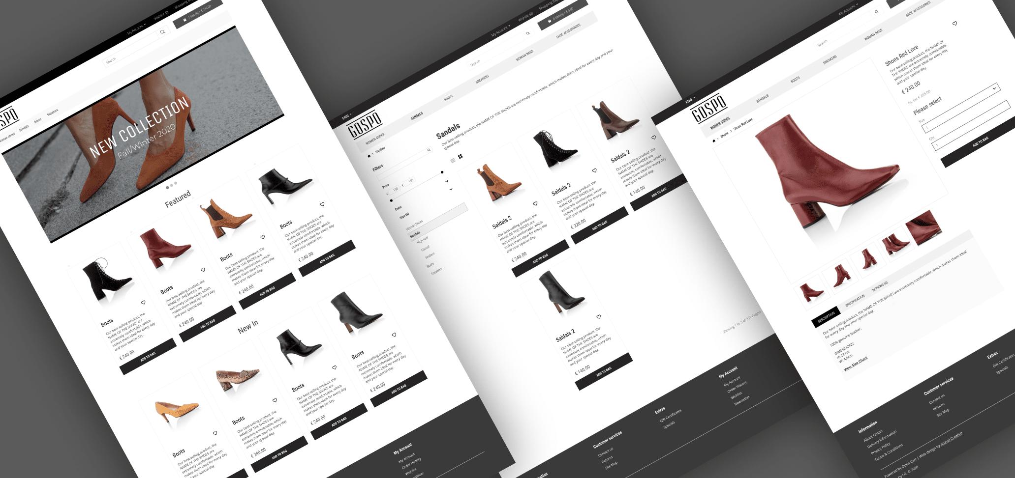 Gospo Shoes Boutique web design