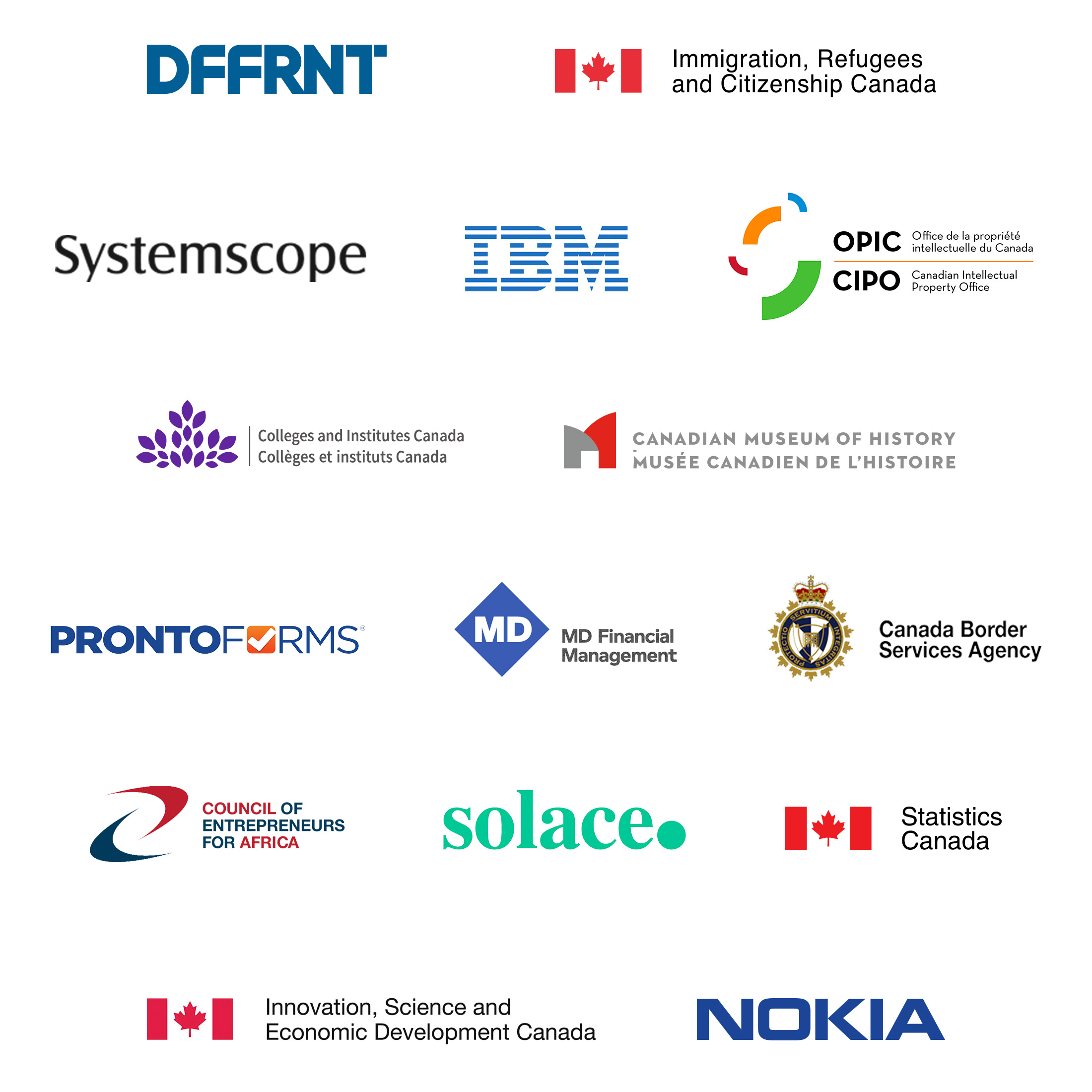 Collection of partner logos.