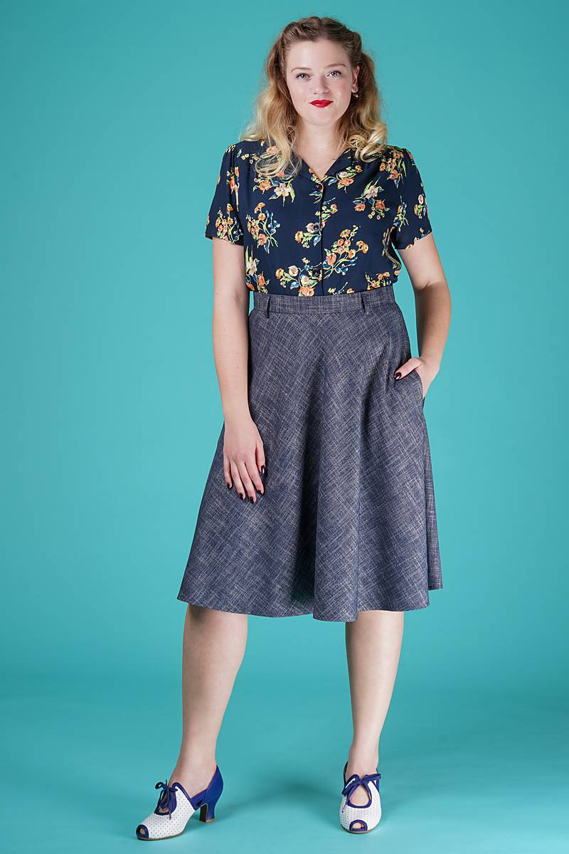 The jazzy A-line skirt