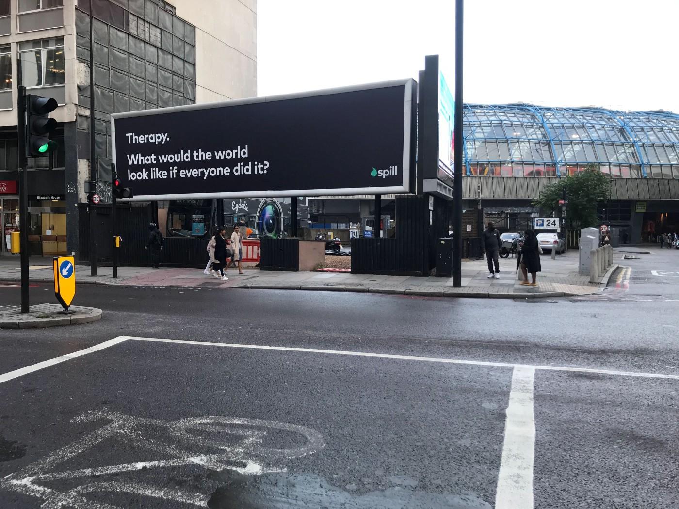 Spill advert on billboard