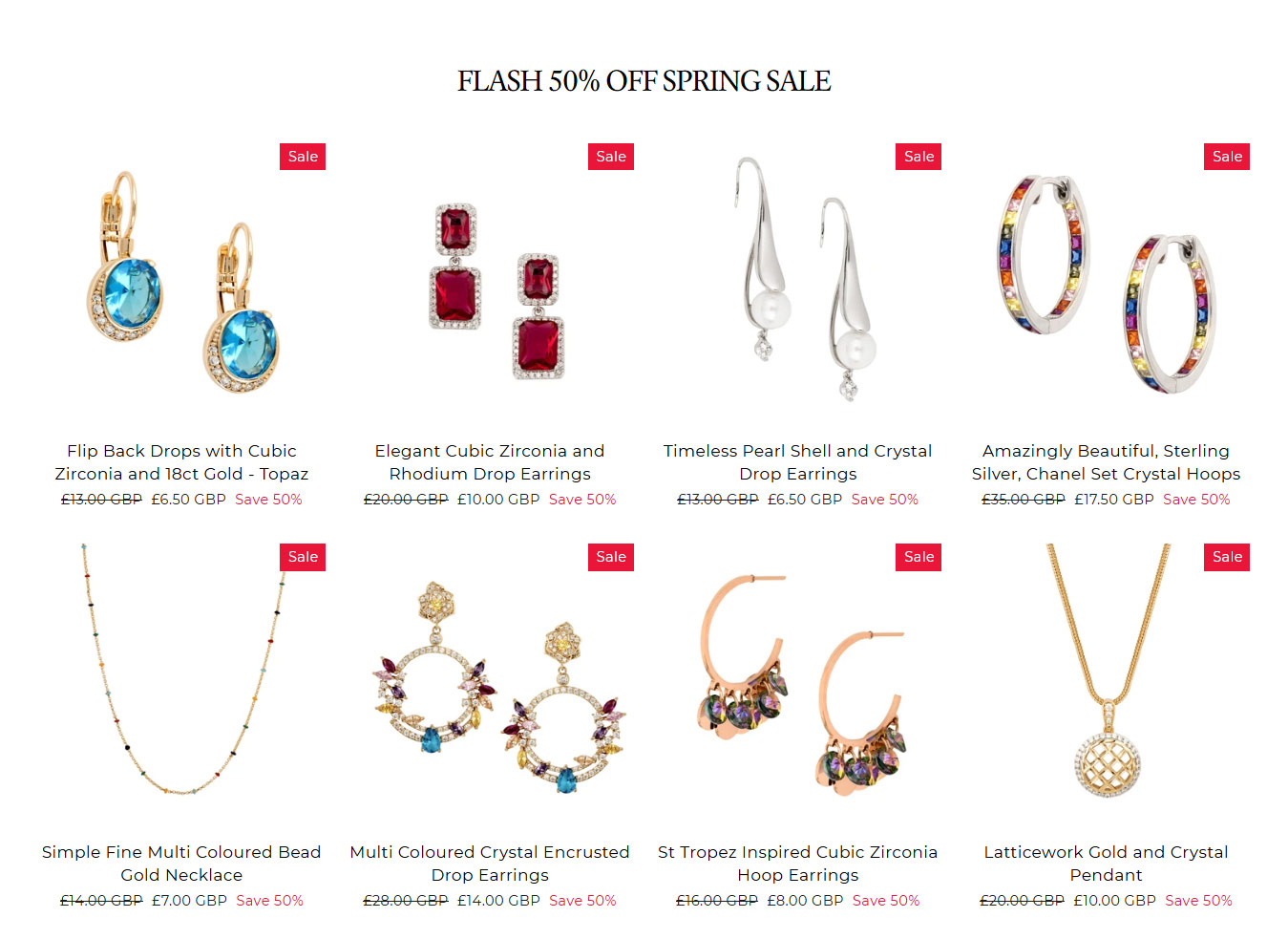 Product examples for L&L Jewellery