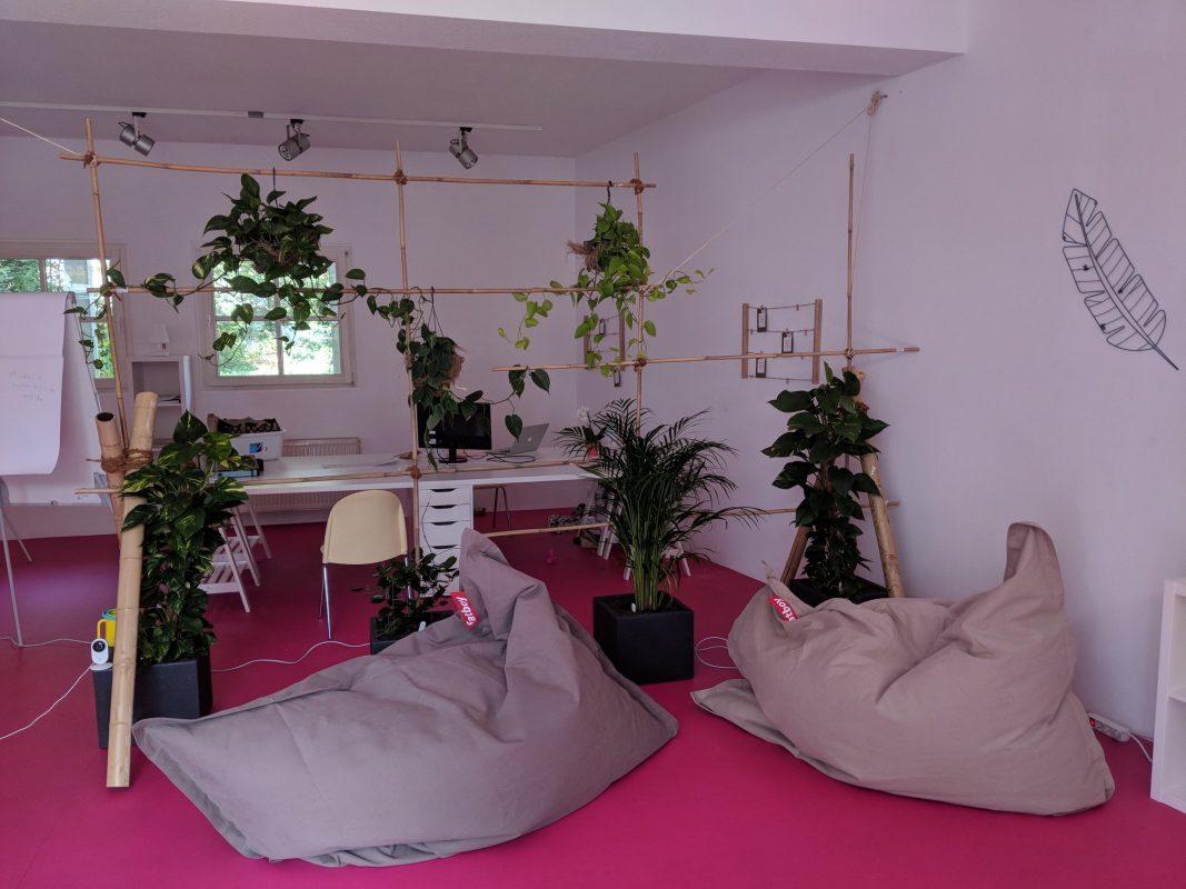 Sichtschutz aus Pflanzen im Büro bei 4EVERGLEN