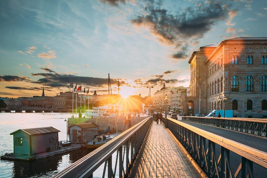 skandinavische Hafenstadt