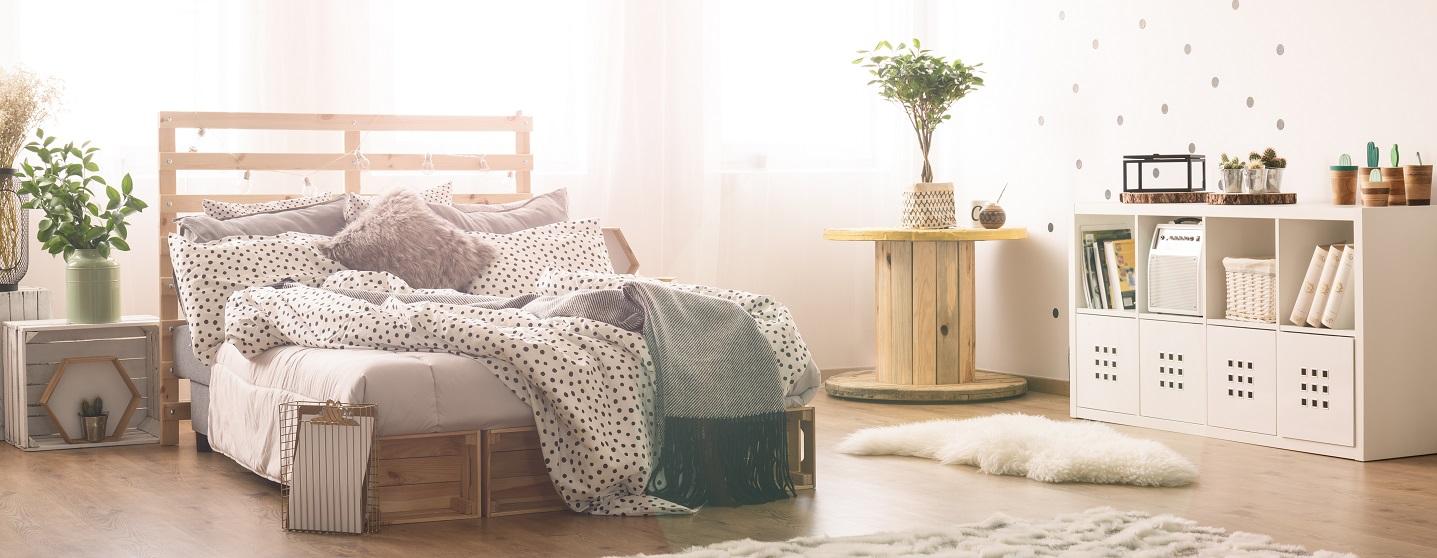 gemütliches Schlafzimmer Individuell und Flexibel Mobil Wohnen