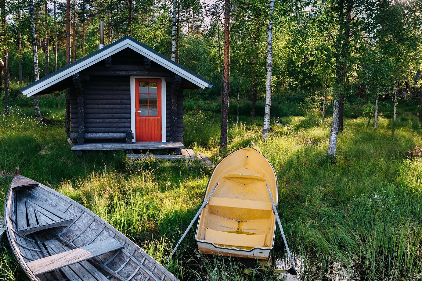 Gartenhaus am See in skandinavien