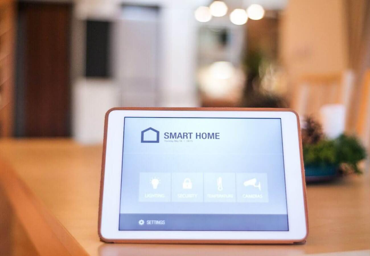 Ipad mit einer Smart Home Anwendung