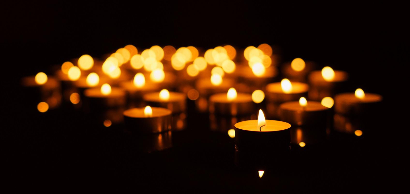 romantischer Kerzenschein