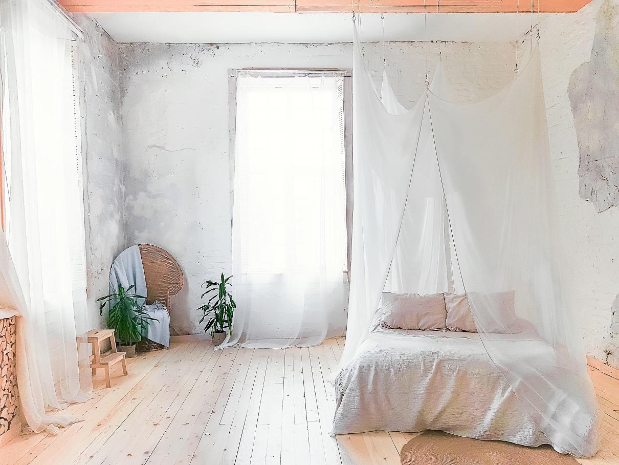Altbau Schlafzimmer in weiß
