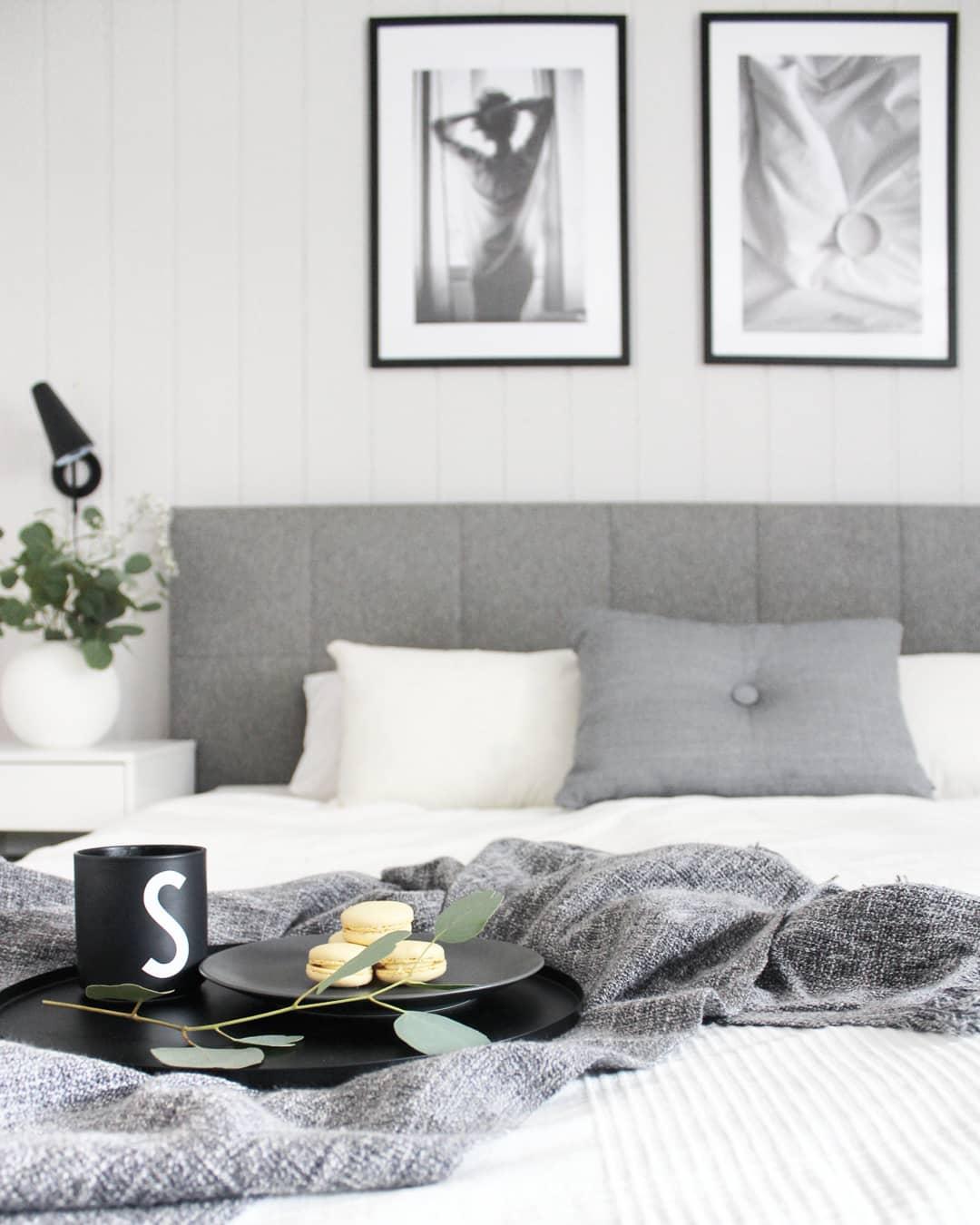 Wohnen, Pflanze, Schwarz, Weiß, Grau, Skandinavisch, Dekoration, Bilderrahmen, Tisch, Sofa, Licht