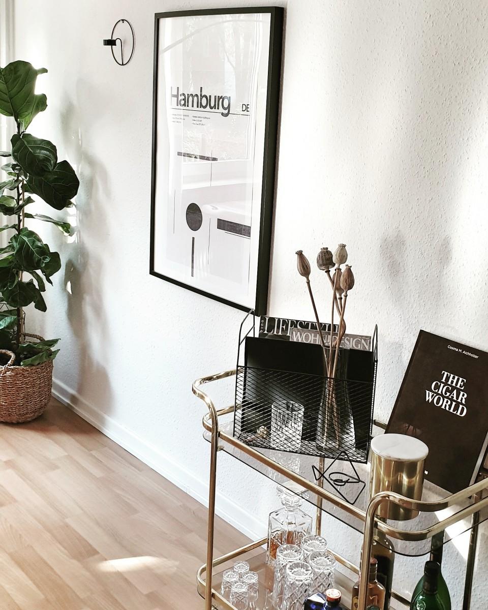 Wohnen, Pflanze, Naturholz, Weiß, Skandinavisch, Dekoration, Bilderrahmen, Tisch