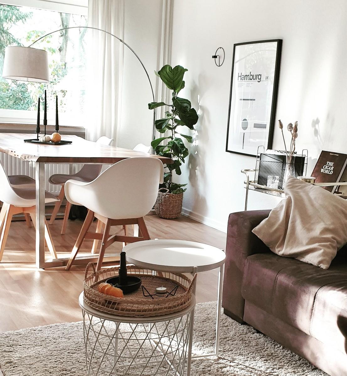 Wohnen, Pflanze, Naturholz, Weiß, Skandinavisch, Dekoration, Bilderrahmen, Tisch, Stuhl