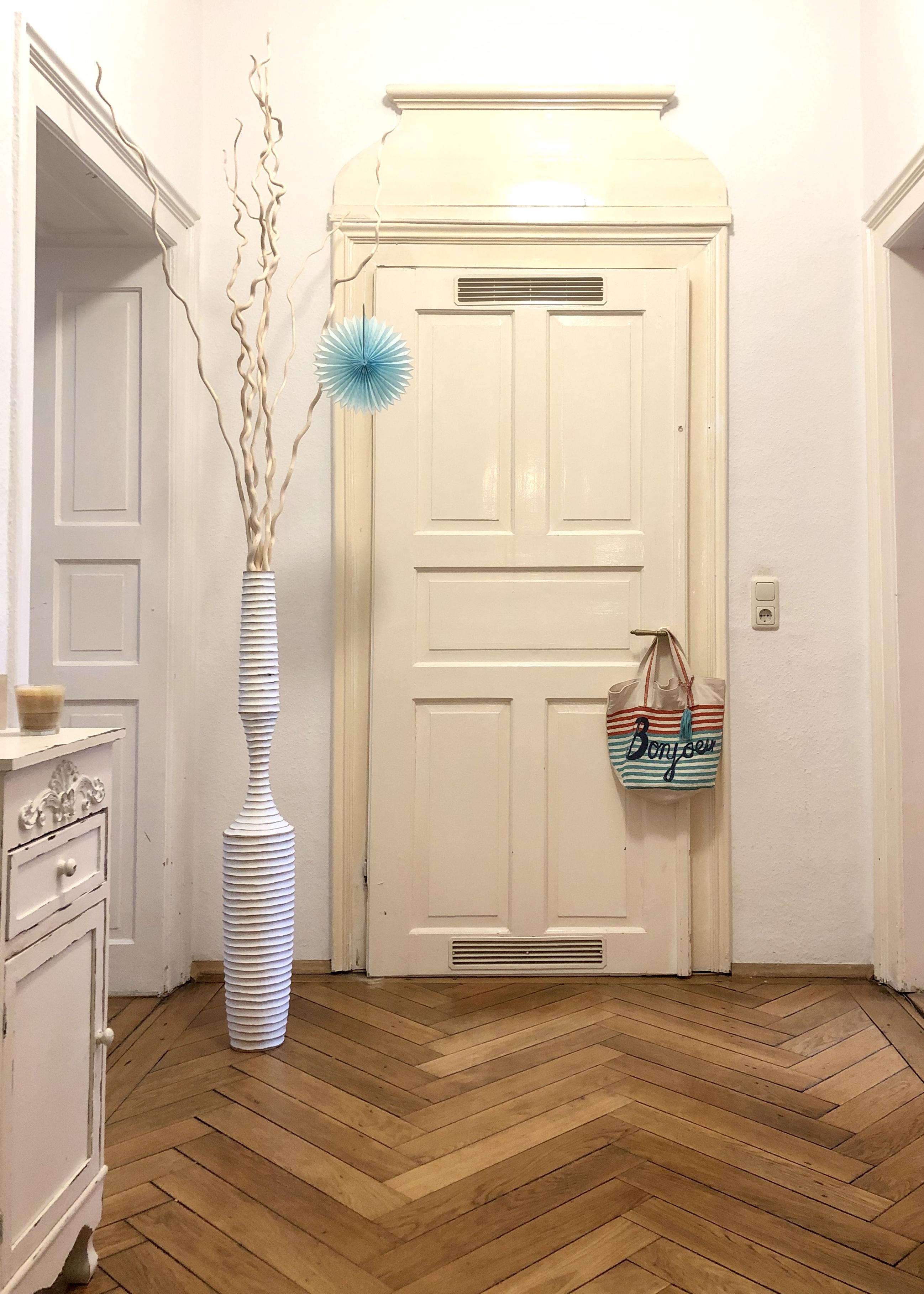 Wohnen, Pflanze, Naturholz, Weiß, Dekoration, Tür