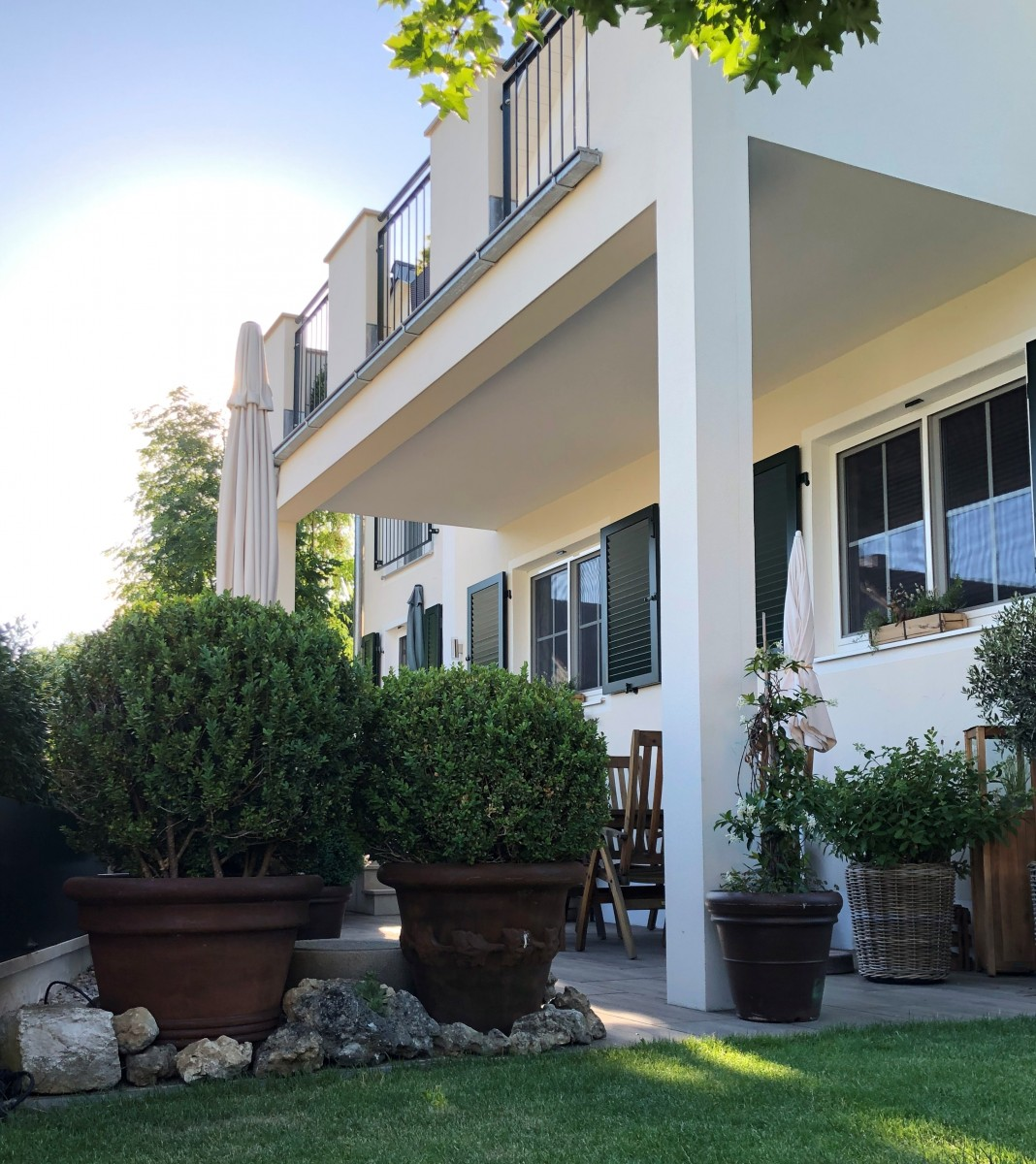 Wohnen, Modern, Licht, Weiß, Pflanze, Natur, Garten