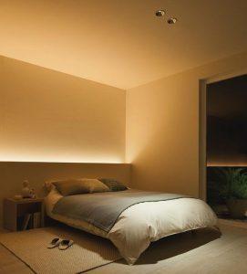 Schöafzimmer Wand in ruhigen Farben - Besser schlafen dank Feng Shui