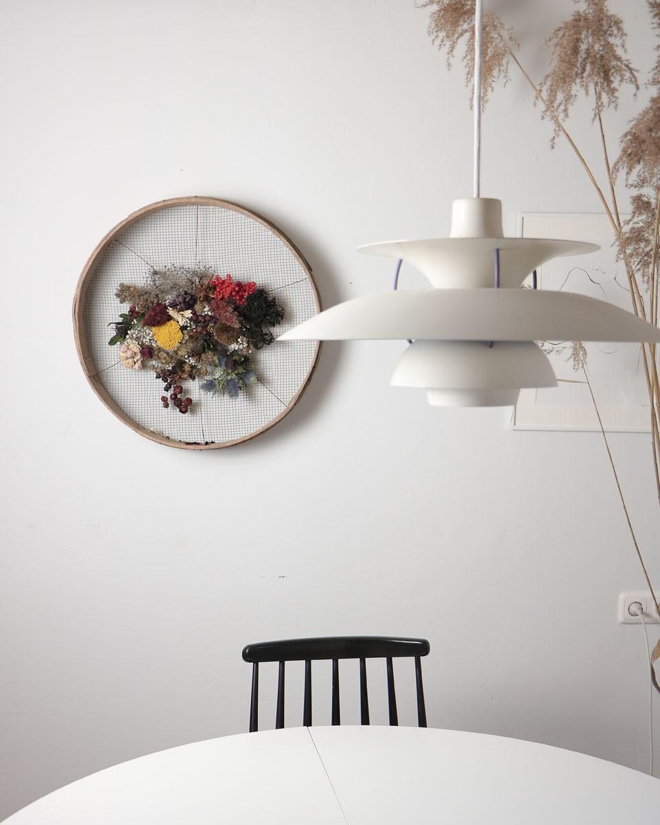 Stuhl, Modern, Pflanze, Weiß, Naturholz, Lampe