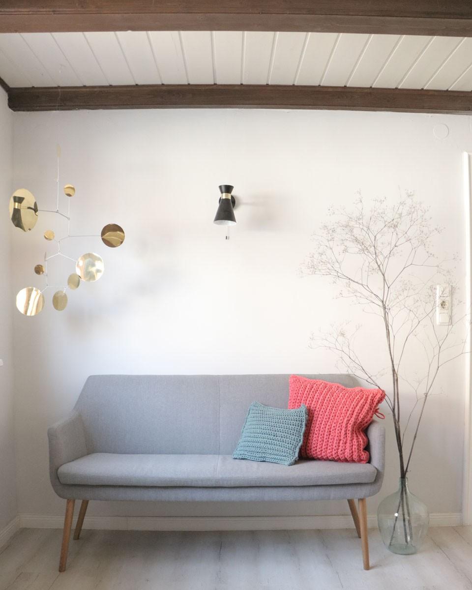 Naturholz, Modern, Sofa, Pflanze, Weiß