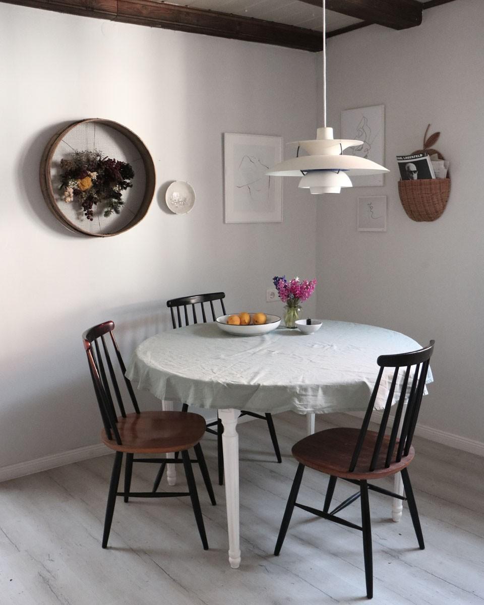 Stuhl, Modern, Pflanze, Weiß, Naturholz
