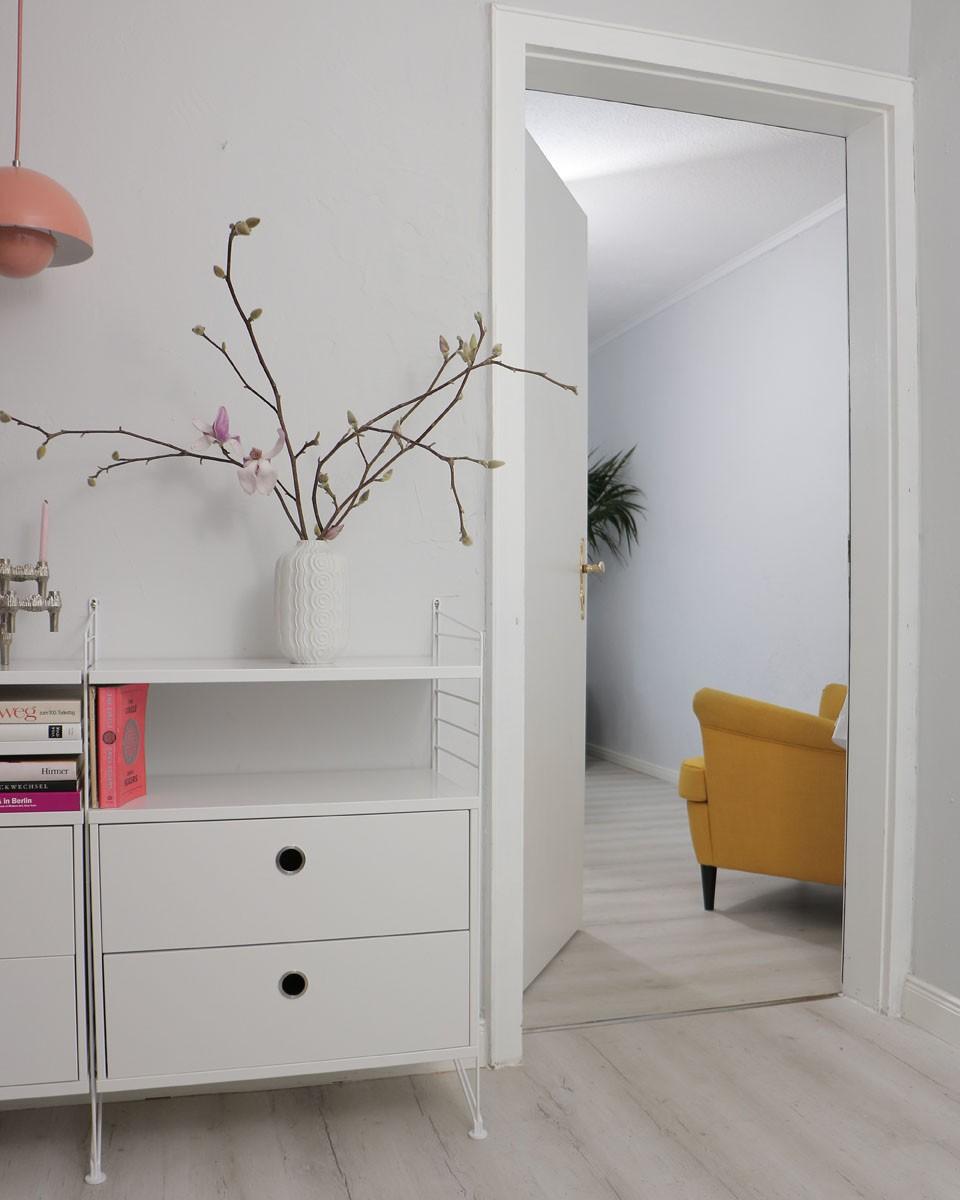 Stuhl, Modern, Schrank, Pflanze, Weiß
