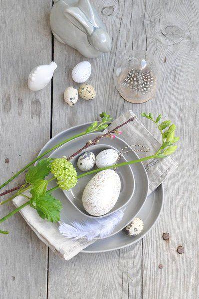 Osterdekoration - Tisch