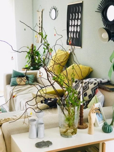 Osterdekoration - Tisch geschmückt - Frühjahr