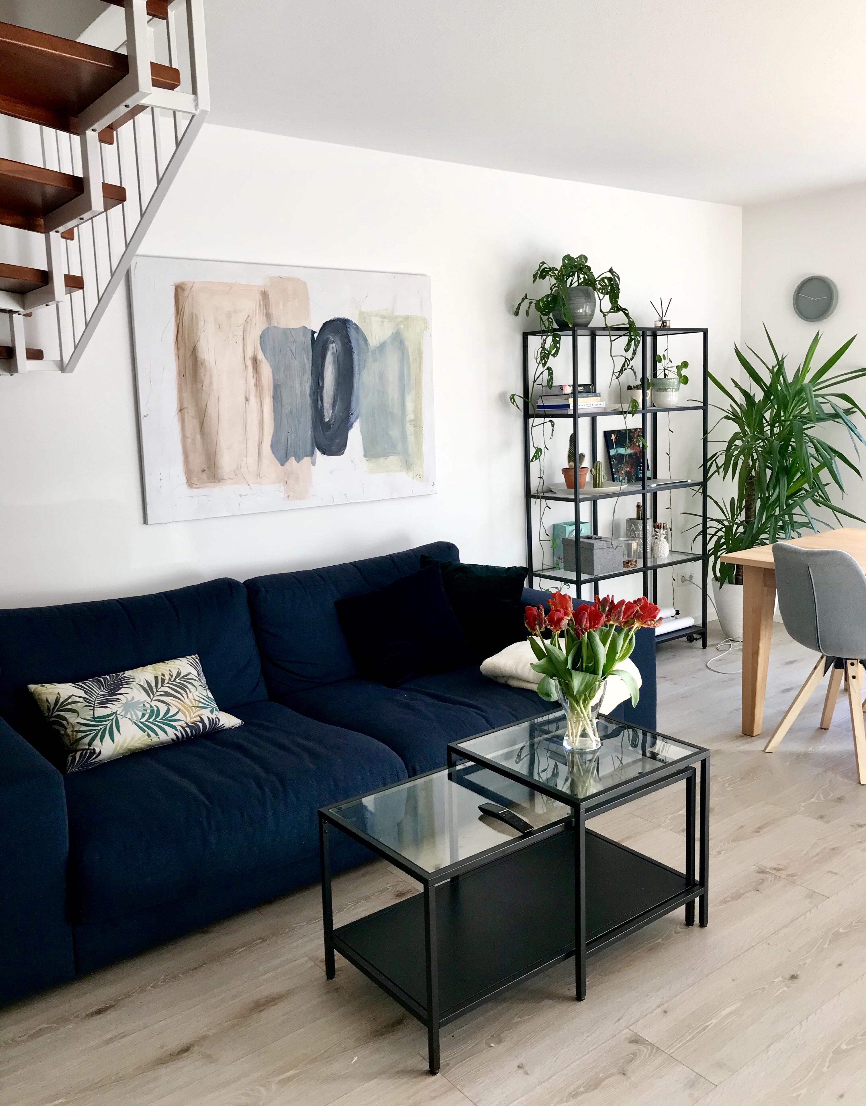Interiorchen hat keine Angst, ihre Wohnung bunt zu machen.