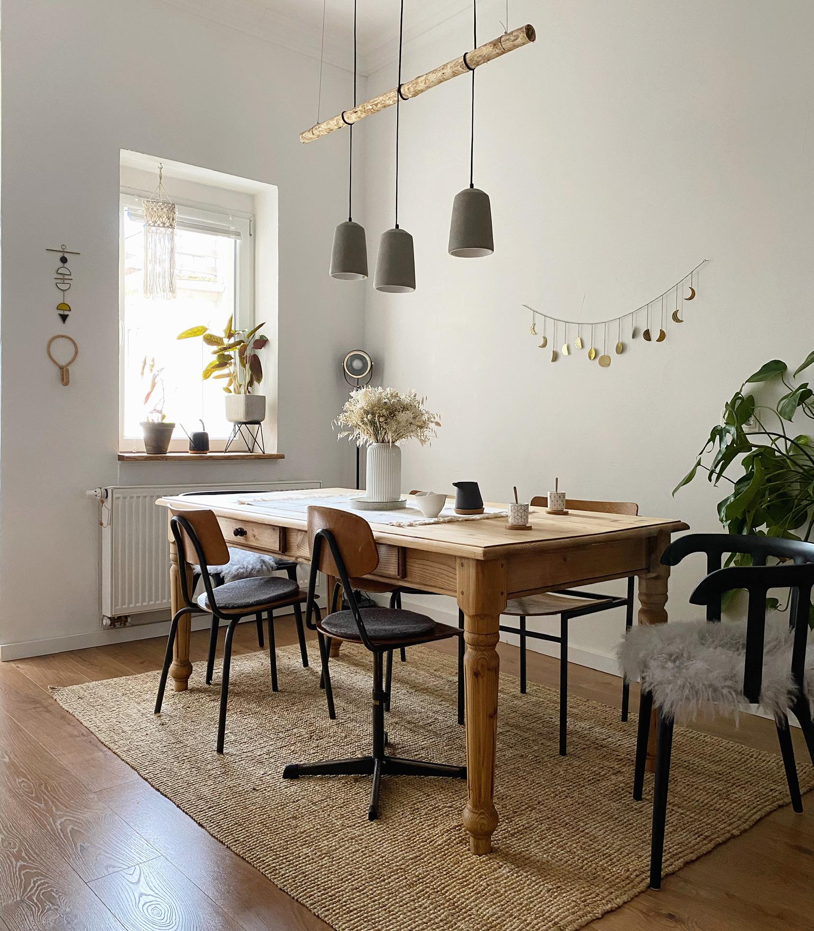 Wohnzimmer weiß - Essbereich