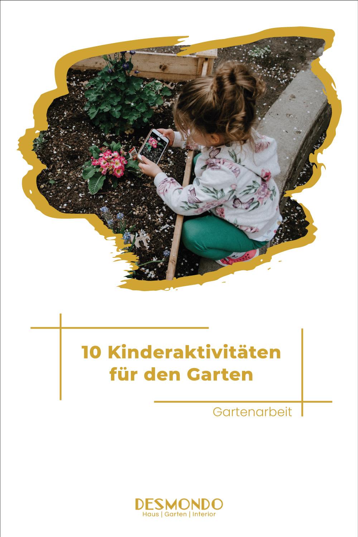 Outdoor - Inspirationen für Balkon und Garten - 10 spaßige Kinderaktivitäten für den Garten - so geht's einfach desmondo