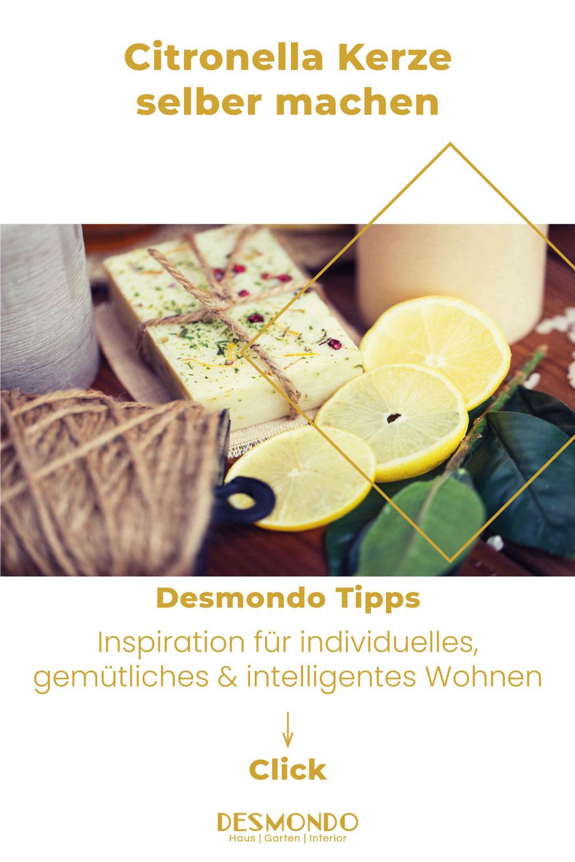 DIY - Do it Yourself Tipps und Tricks - Citronella Kerze selber machen - so geht's einfach desmondo