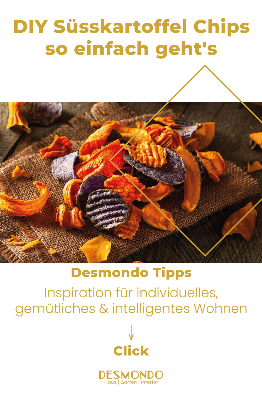 DIY - Do it Yourself Tipps und Tricks - DIY Süsskartoffel Chips so einfach geht's- so geht's einfach Desmondo dein online Shop und online Magazin