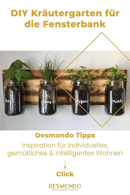 DIY - Do it Yourself Tipps und Tricks - DIY Kräutergarten für die Fensterbank - so geht's einfach DESMONDO dein online Shop und Magazin