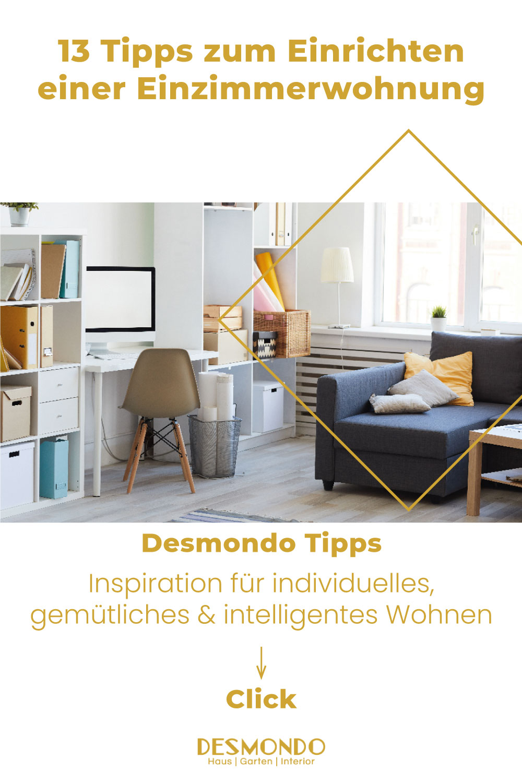 Indoor - Inspirationen für deinen Wohnraum - 13 Tipps zum Einrichten einer Einzimmerwohnung- so geht's einfach desmondo dein online Magazin und Shop