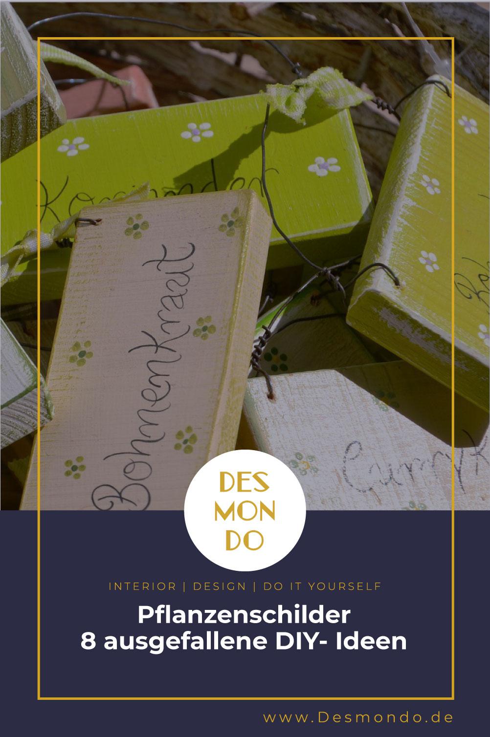 DIY - Do it Yourself Tipps und Tricks - Pflanzenschilder 8 ausgefallene DIY- Ideen- So geht's einfach desmondo dein online Magazin und Shop
