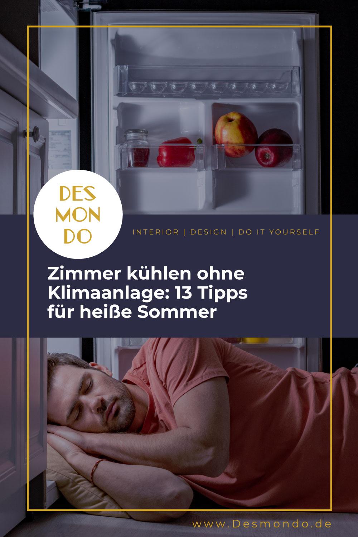 DIY - Do it Yourself Tipps und Tricks - Zimmer kühlen ohne Klimaanlage: 13 Tipps für heiße Sommer- so geht's einfach Desmondo dein online Magazin und Shop