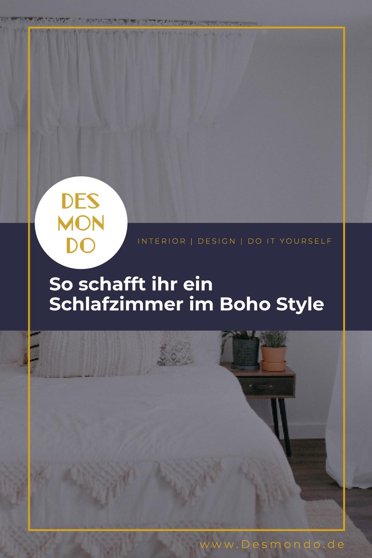 Schlafen - Augen auf für bequeme Deko-Ideen - So schafft ihr ein Schlafzimmer im Boho Style - so geht's einfach DESMONDO dein online Shop und Magazin