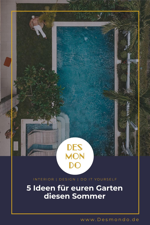 Outdoor - Inspirationen für Balkon und Garten - 5 Ideen für euren Garten diesen Sommer - So geht's einfach Desmondo dein online Shop und Magazin