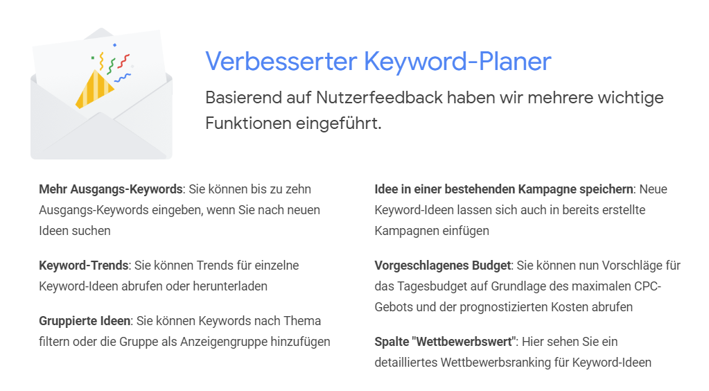keyword planer update