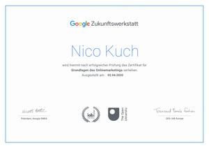 Google Zukunftswerkstatt Zertifizierung