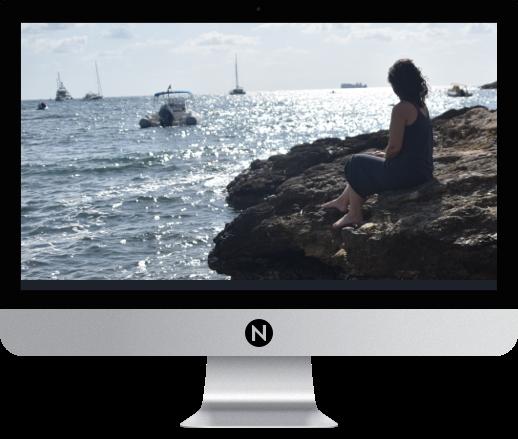 Nicole on beach in ibiza