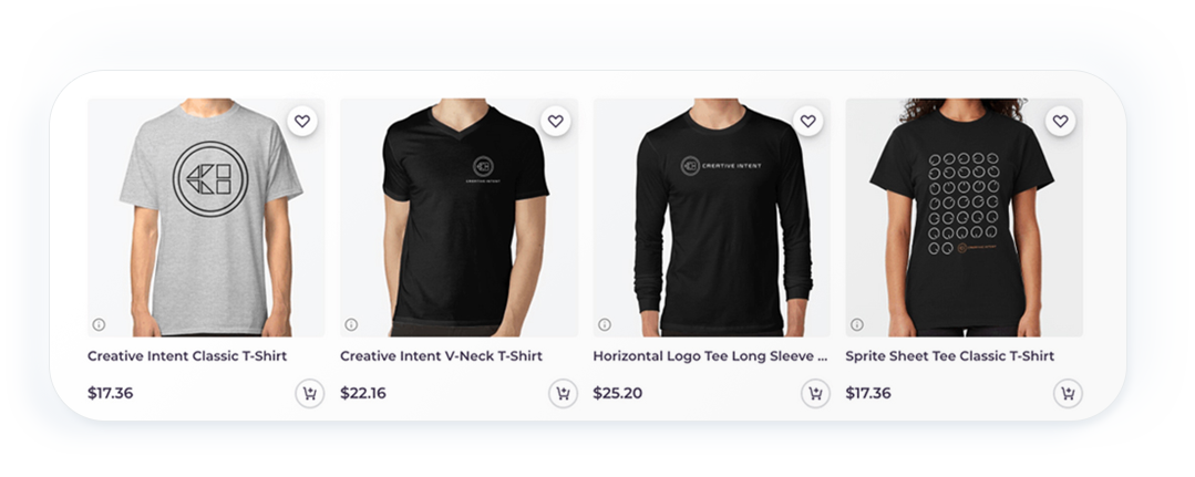 Creative Intent - Innovative audio software merchandise. Tshirts, sweatshirts and other merch available in our online store