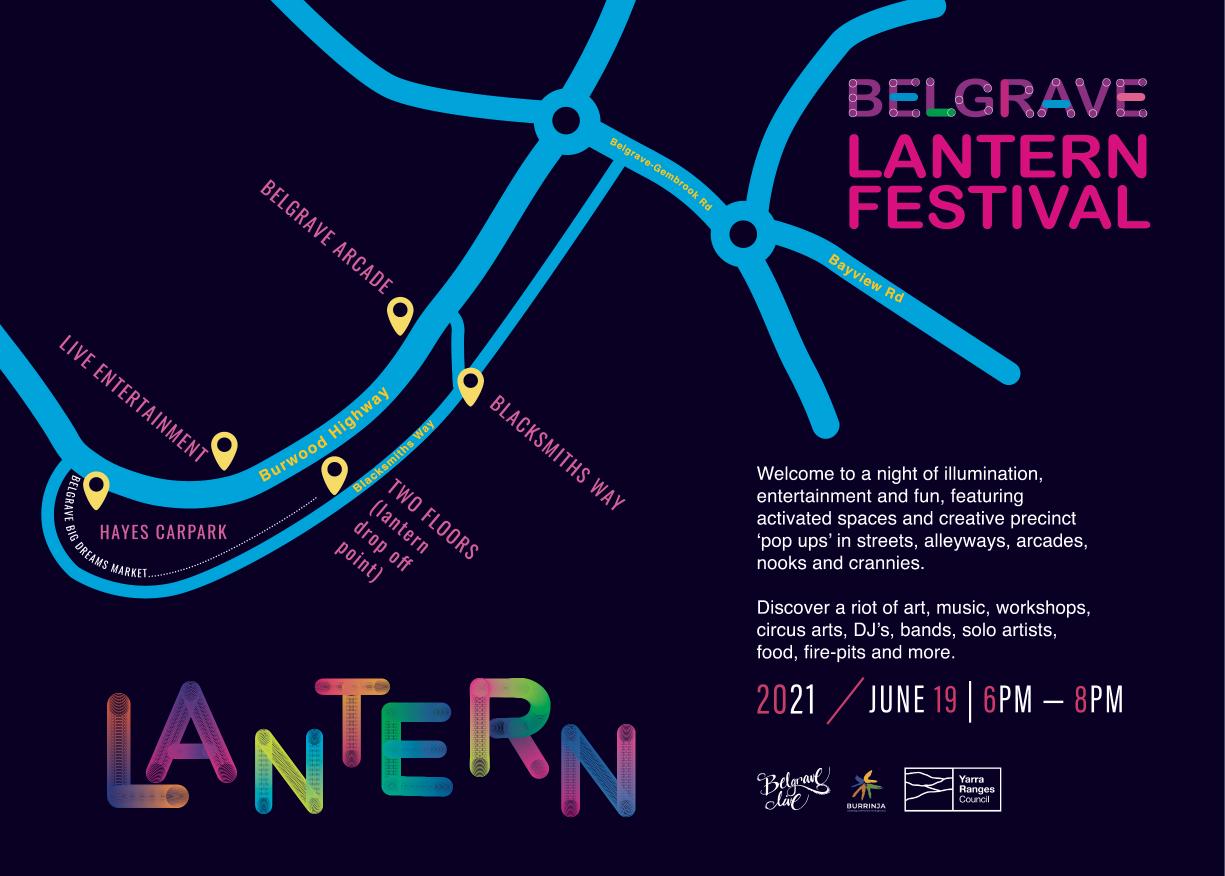 Belgrave lantern festival 2021 map