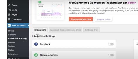 Woocommerce Conversion Tracking Plugin