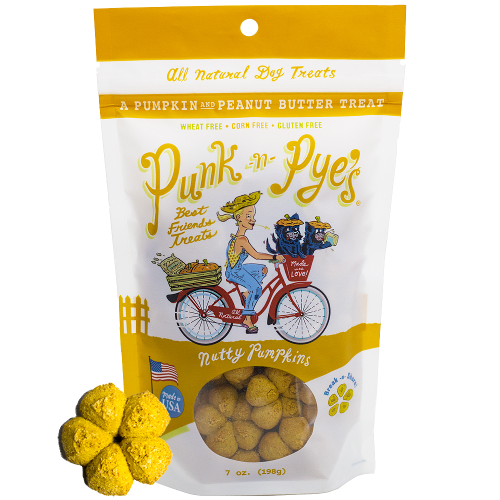 Dog Treat Bag of Nutty Pumpkins